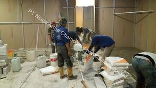 aplikasi floor hardener