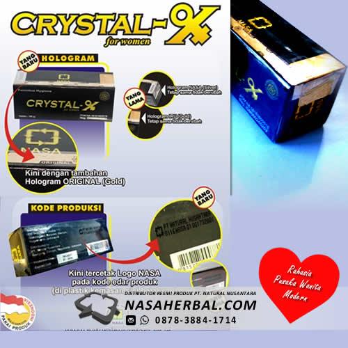 Update Kemasan Crystal X Asli PT Nasa Per Maret 2016