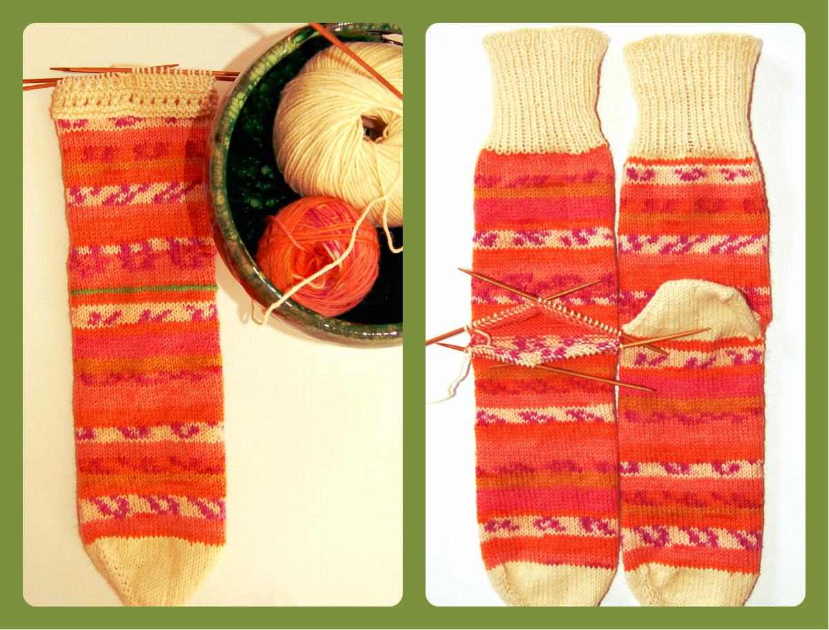 Lanes asgaya calcetines con el tal n tejido aparte - Como hacer talon de calcetines de lana ...