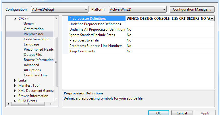 to disable deprecation use _crt_secure_no_warnings