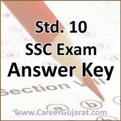 Std. 10 SSC Exam March 2019 Maths Answer Key