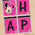 "Minnie Mouse: Free Printable ""Happy Birthday!"" Banners. ."