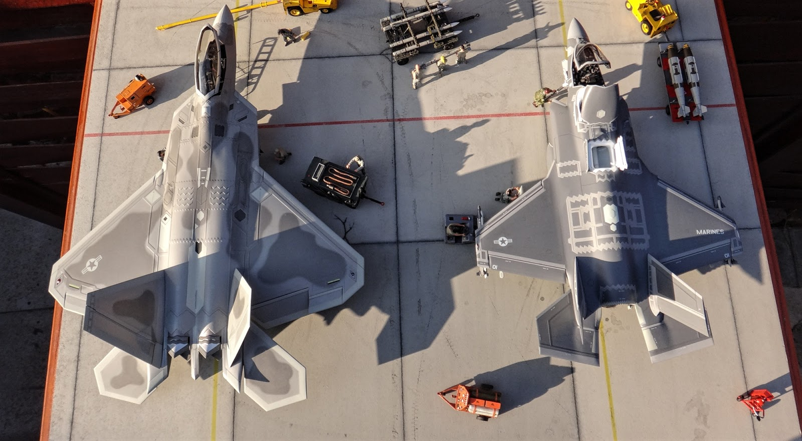 F-22 and F-35 Bird Eye View