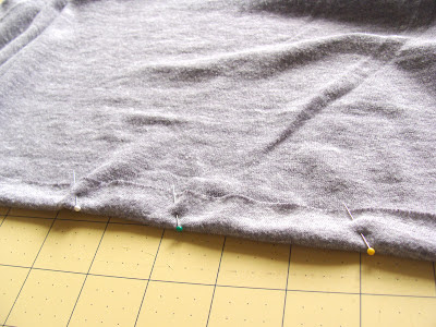 sewing a double seam on t-shirt