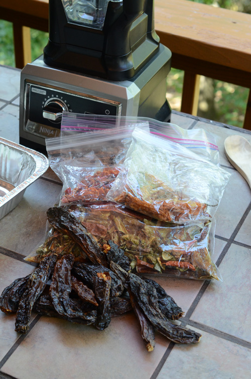 dried chiles, aji panca