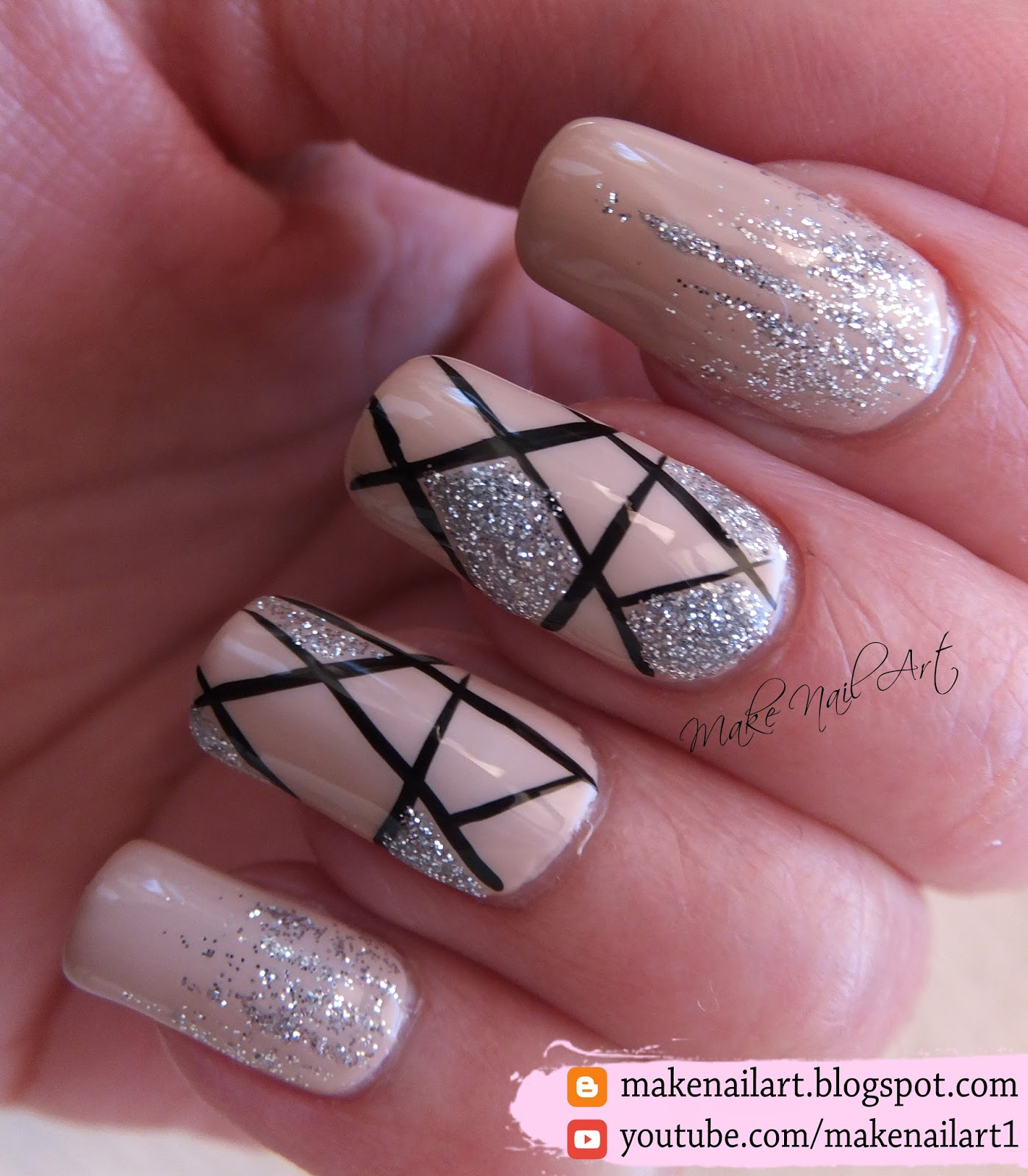 Make nail art april 2017 this nail art design is perfect for any special occasion or for prom its super elegant and you can easily make it by yourself solutioingenieria Gallery