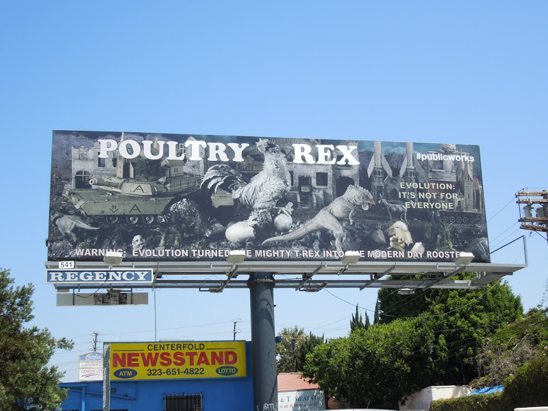 Poultry Rex Fairfax Avenue billboard