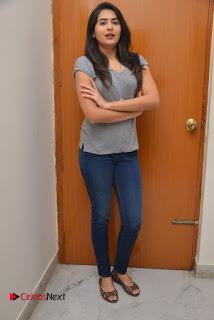 Actress Vyoma Nandi Pictures in Jeans at Marala Telupana Priya Movie Success Meet  0074