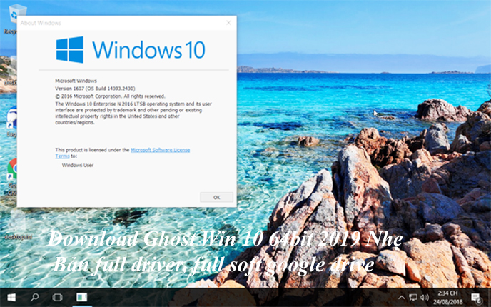 Download Ghost Win 10 64bit 2019 Nhẹ- Bản full driver, full soft google drive d