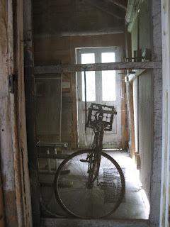 bicycle and screen door