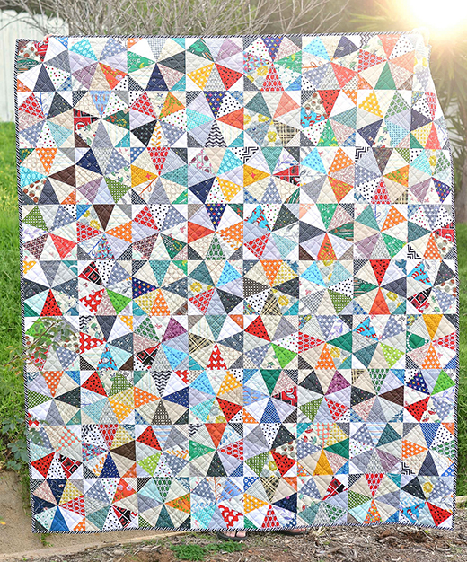Scrappy Kaleidoscope Quilt Designed by Erica of Kitchen Table Quilting