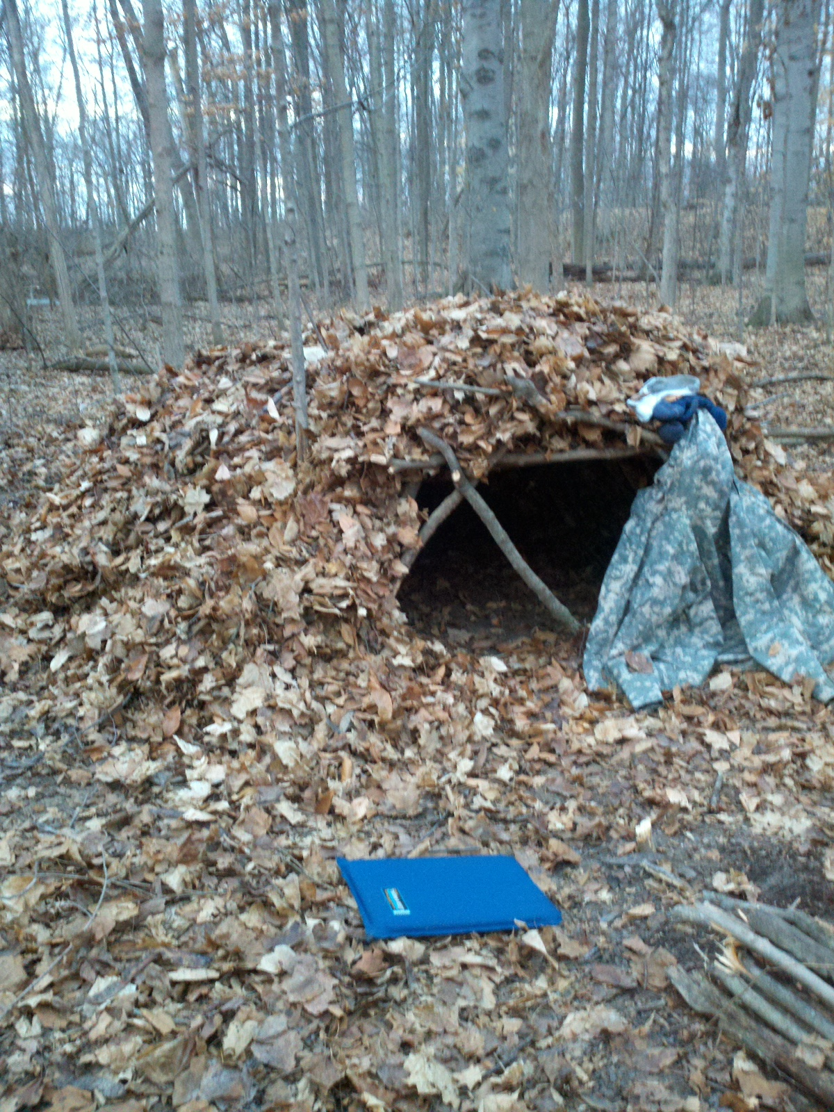 Beardventures Cold Weather Survival Shelter Testing
