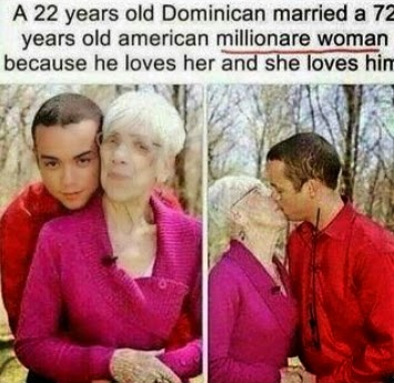 dominican married american grandma