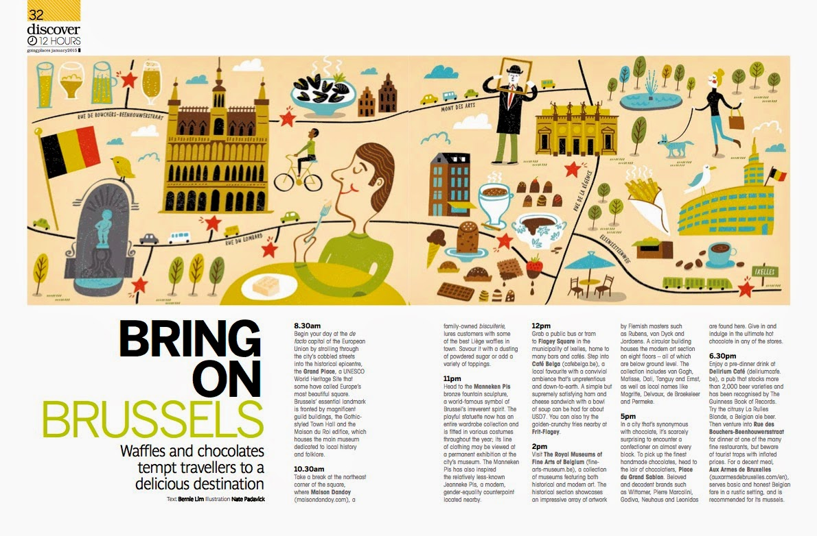 I Draw Maps: Brussels for Going Places, the inflight