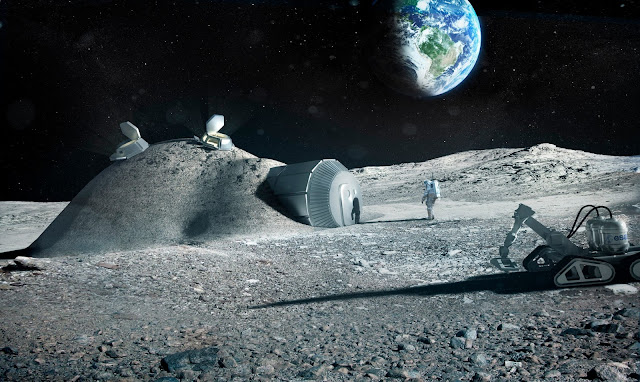 Building a Lunar Base with 3D Printing