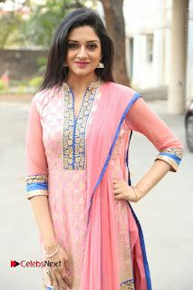 Actress Vimala Raman Stills in Beautiful Pink Salwar Kameez at (ONV) Om Namo Venkatesaya Press Meet  0209.JPG