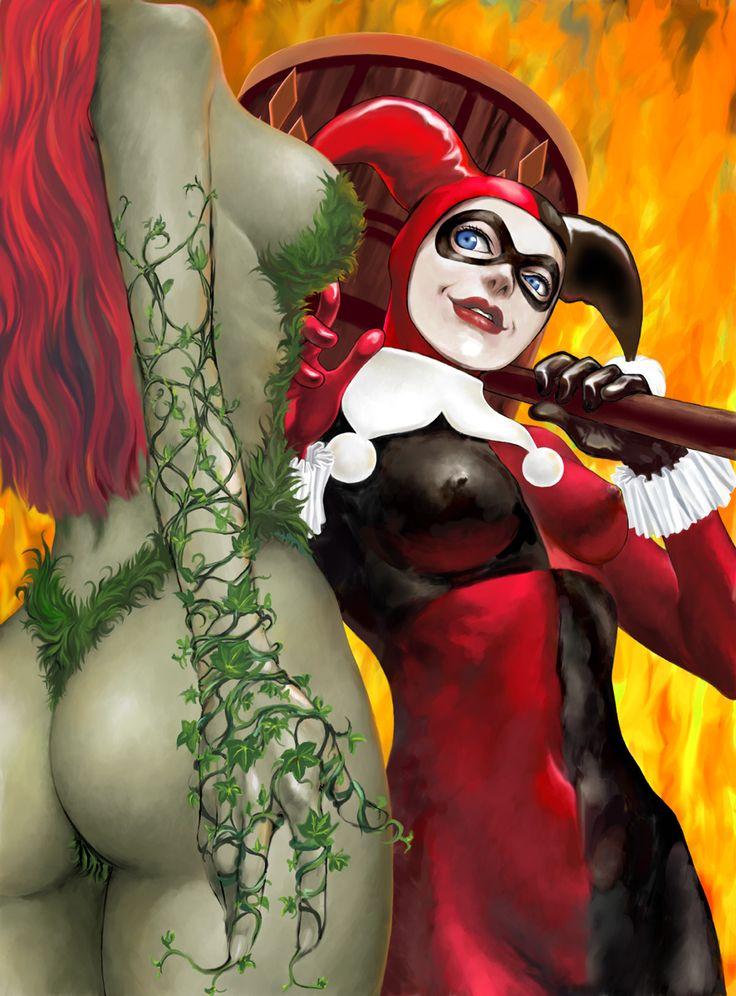 Black Widow Harley Quinn Epic Battle Naughty America 1