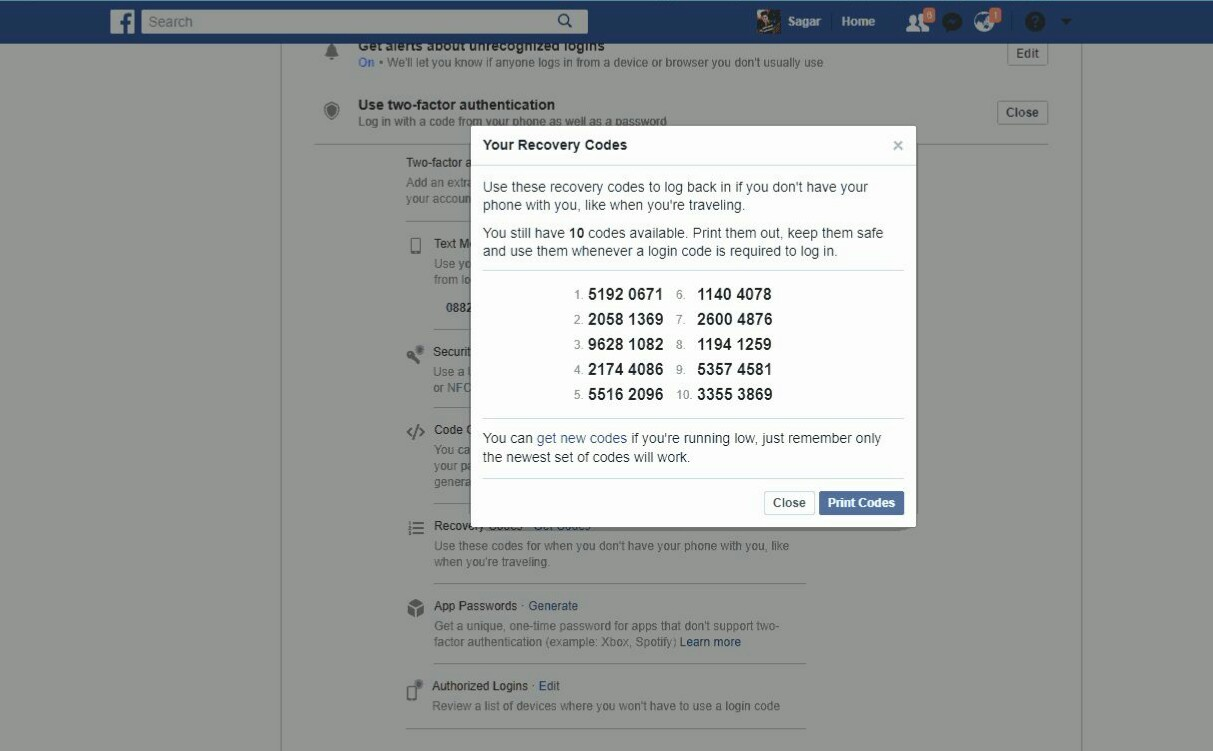 Enable Two-Step Vertification In Facebook