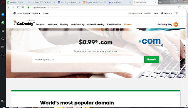 How To Buy .Com Domain Name From Godaddy For $1.17