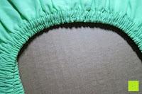 Rundumgummizug: GOLD STERN Baumwolle Jersey-Stretch Spannbettlaken 140-160 x 200 cm, Apfel-Grün