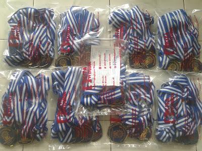 Medali Smp Muhammadiyah Cirebon Bahan Kuningan Lapis Fiber 83 pcs