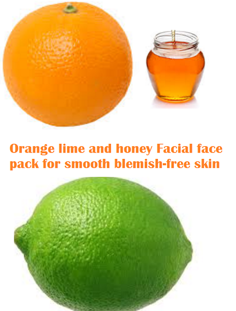 Orange lime and honey Facial face pack for smooth blemish-free skin