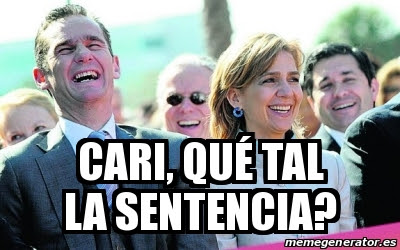 Memes condena Urdangarín