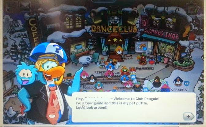 Club Penguin game and magazine review - welcome page