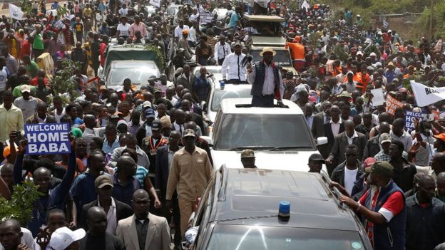 Kenya election: Five dead as Raila Odinga returns home