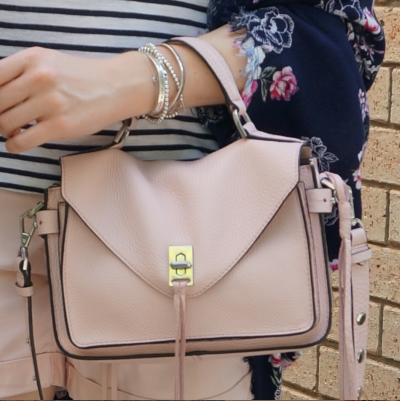 Rebecca Minkoff small Darren messenger bag in peony | awayfromtheblue