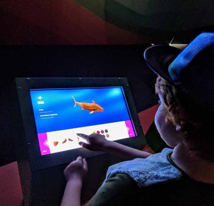 How to spend a weekend in Genoa with kids - Genoa aquarium digital game