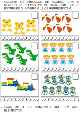 Contando brinquedos com números até 9