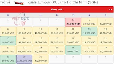 Giá vé máy bay đi Kuala Lumpur 19k từ Vietjet Air bay từ Kuala Lumpur