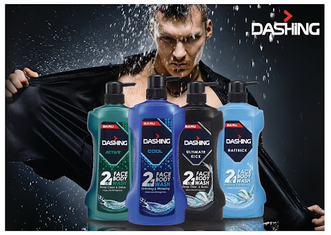 DASHING 2 in 1 Face Body Wash: Pelengkap Mandian Si Jejaka