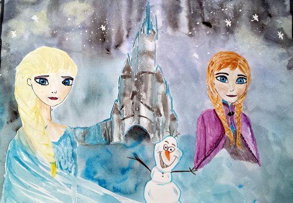 Ma petite vie peinture reine des neiges pour une petite - Princesse reine des neiges ...