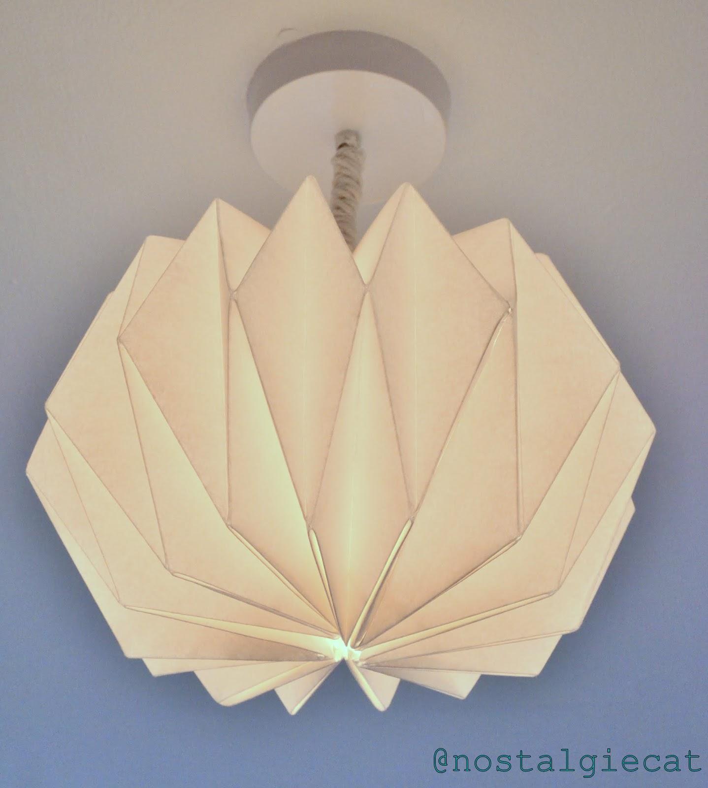 Lamp Of Paper: Nostalgiecat: DIY Origami Paper Lampshade
