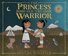 the princess and the warrior by duncan tonatiuh book cover