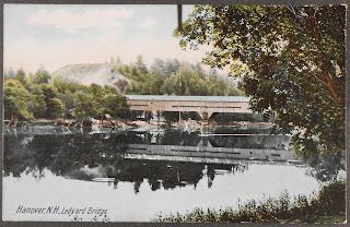 A postcard showing the Ledyard Bridge.