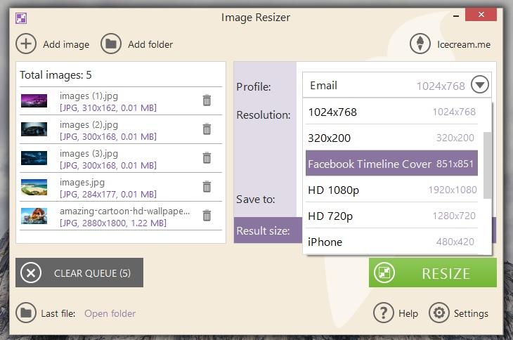 3660a1cb1 برنامج تغيير احجام الصور مع الاحتفاظ بالجودة Image Resizer احدث ...