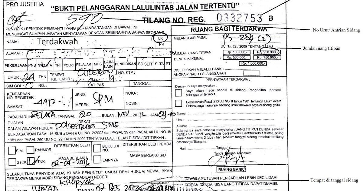 Prosedur Slip Tilang Merah Vs Slip Tilang Biru Heri Heryanto