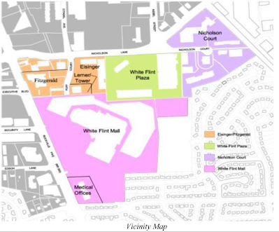 White Flint sector plan map, Rockville MD commercial real estate