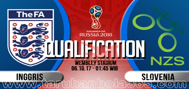 Prediksi Taruhan Bola 365 - Inggris vs Slovenia 6 Oktober 2017