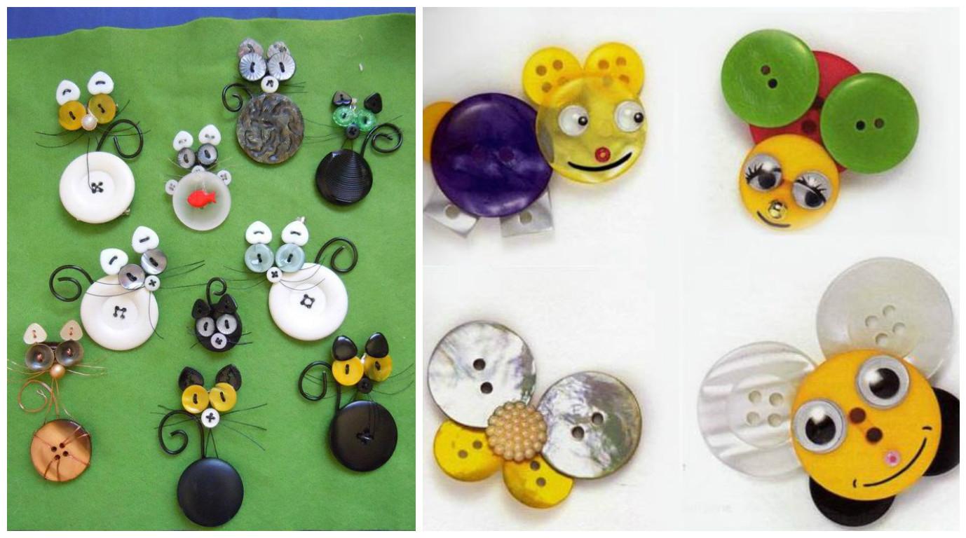 15 ideas de manualidades con botones que puedes hacer hoy - Telas con dibujos infantiles ...