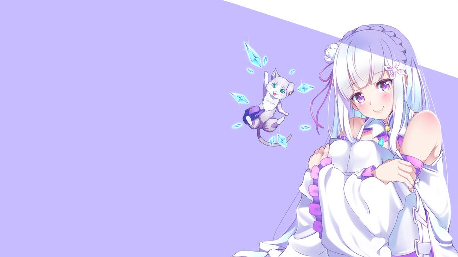 Emilia, Pack, Re:Zero, 4K, #4.2684