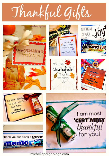 Thankful gifts with free printables @michellepaigeblogs.com