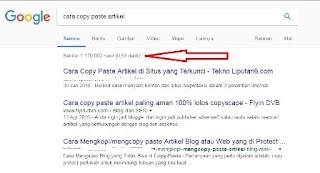 Cara agar judul artikel muncul di halaman utama google
