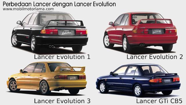 Perbedaan eksterior belakang Lancer Evolution