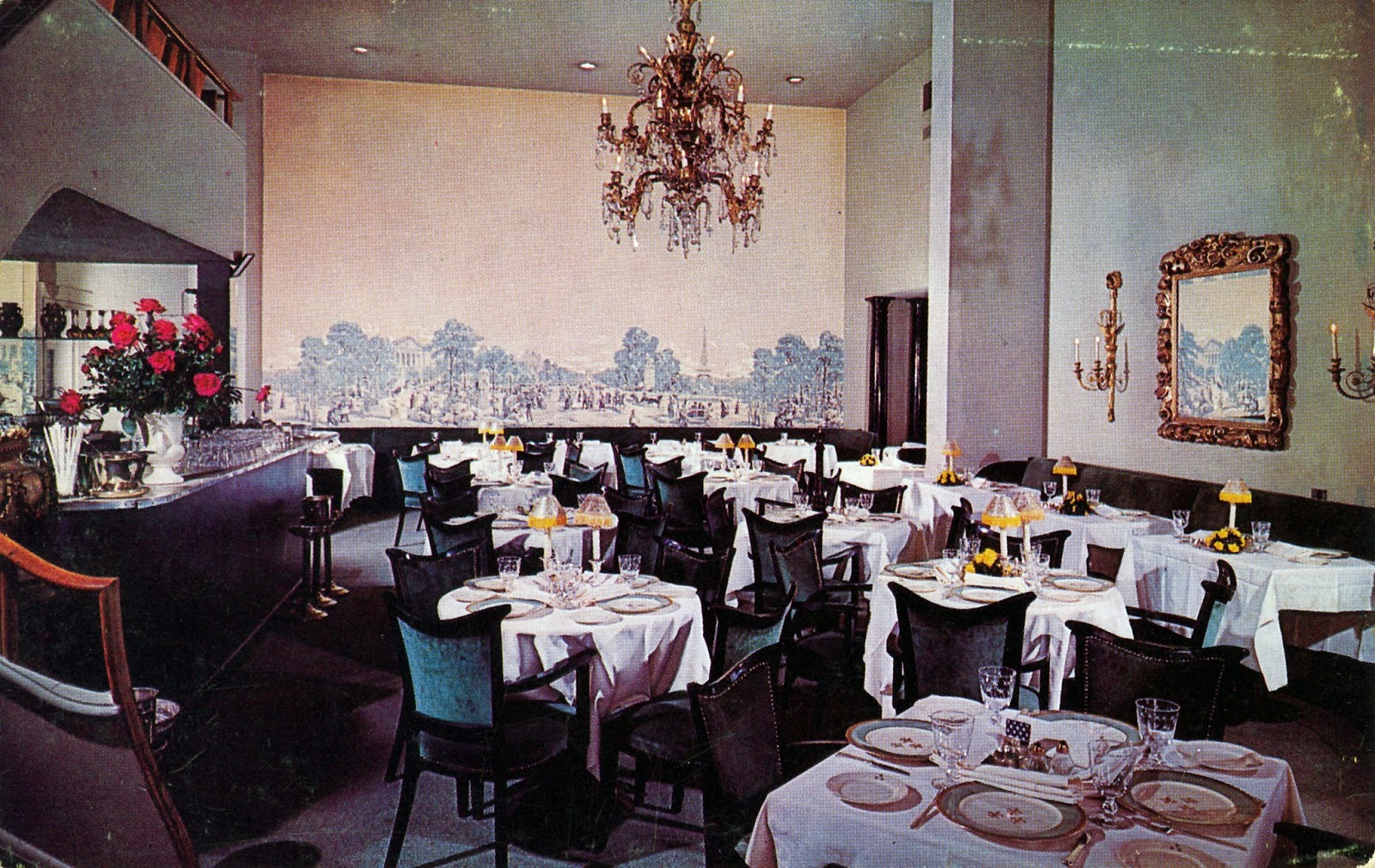 Interior Of La Salle Du Bois Restaurant Author S Collection