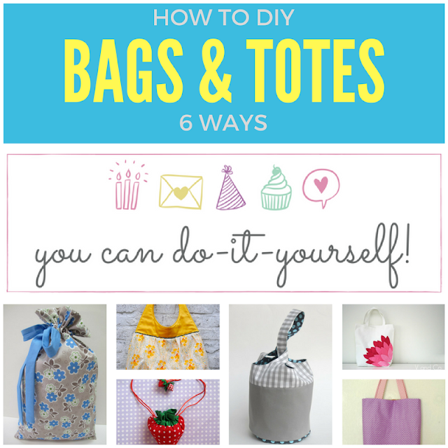 6 amazing bags and totes, you can DIY series