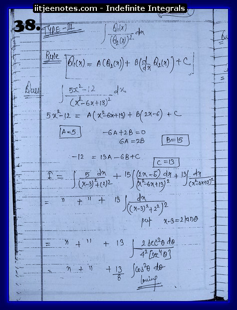 indefinite integrals cbse1